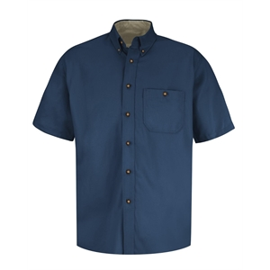 Red Kap Short Sleeve 100% Cotton Dress Shirt