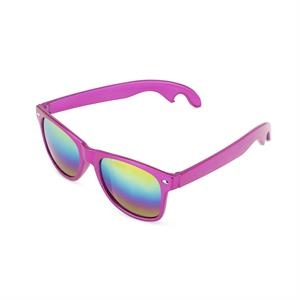 Sunnies: Pink Bottle Opener Sunglasses by Blush