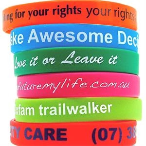 Custom Silkscreen Printed Silicone Wristbands