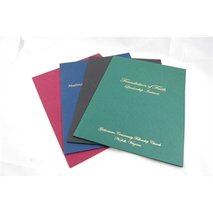 "9"" x 14.5"" -Linen Presentation Folders-Hot Stamped-USA-Made"