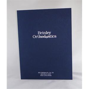 "9"" x 12""- Linen Presentation Folders-Hot Stamped-USA-Made"