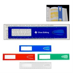 """6\"""" Magnifier Ruler With Bookmark"""