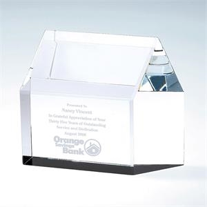 Optical Crystal Real Estate House Paperweight