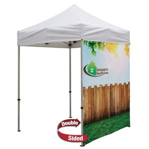 6' Middle Zipper Wall (2-Sided, Dye Sublimation)