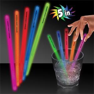 "5\"" Single Color Glow Swizzle Stick"