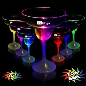 9 oz. Lighted LED Margarita Glass