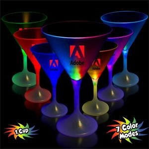 7 1/4 oz. LED Lighted Frosted Martini Glass