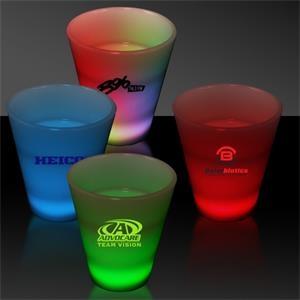 LED Neon Light Up Glow Look 2 oz Shot Glass