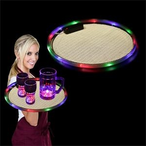 """14"""" Serving Tray w/ Multi-Colored LED Lights"""
