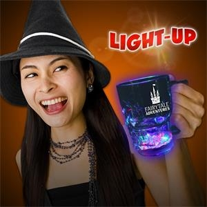 14 oz. Flashing LED Lighted Skull Cup