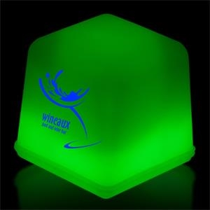 Green Glow Ice Cubes Packed in Tray of 24 Pieces