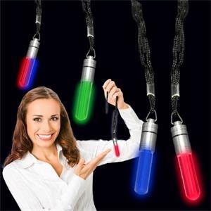 """2\"""" LED Light Up Glow Pendant with Lanyard"""
