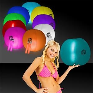 """24\"""" Translucent Inflatable Beach Ball with 2 Glow Sticks"""