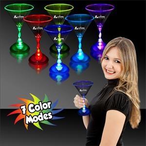 7.5 oz. Martini Glass with Multi-Color LED Lights