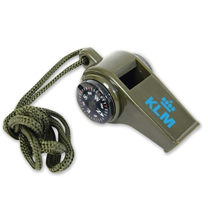 3-in-1 Compass Thermometer Whistle