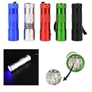UV Flashlight 12 LED Lights Detectors for Money Marks