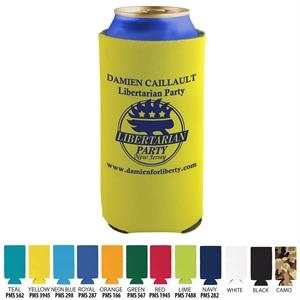 Coolie - 16 oz Tall Pocket Can Coolie with 3 sided Imprint