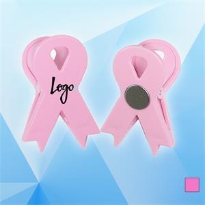 Pink Ribbon Magnetic Memo Clip Holder