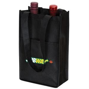 NON WOVEN TWO BOTTLE WINE BAG