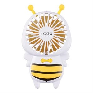 Little Bee Mini Fan with Colorful LED Light