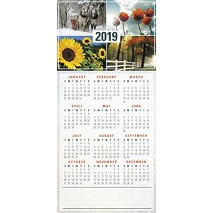 Four Seasons New Year Calendar Greeting Card