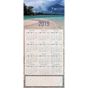 2019 Beach Front New Year Calendar Greeting Card
