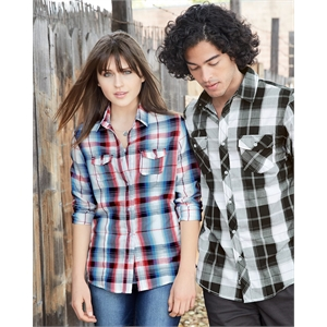 Burnside Women's Long Sleeve Plaid Shirt