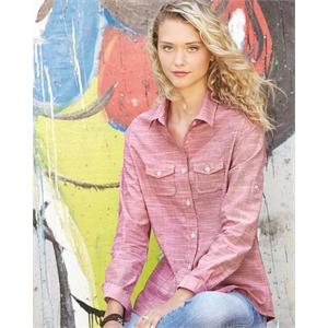 Burnside Women's Textured Solid Long Sleeve Shirt