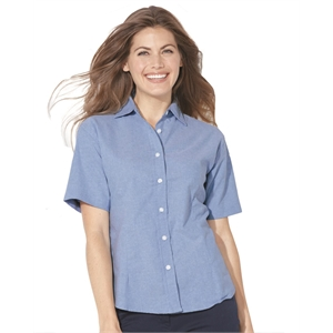 FeatherLite Women's Short Sleeve Stain Resistant Oxford S...