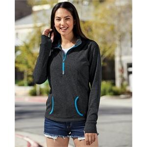 J. America Women's Cosmic Fleece Quarter-Zip Pullover