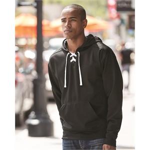 J. America Sport Lace Polyester Fleece Hooded Sweatshirt