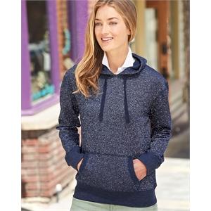 J. America Women's Glitter French Terry Hooded Sweatshirt