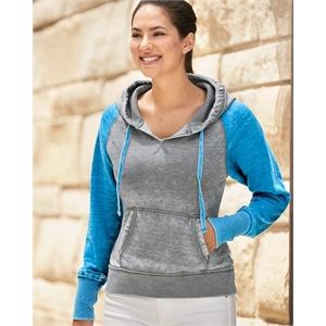 J. America Women's Zen Fleece Raglan Hooded Sweatshirt