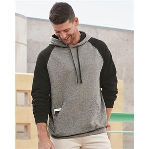 JERZEES Nublend® Colorblocked Raglan Hooded Sweatshirt
