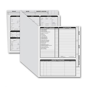 Real Estate Folder, Right Panel List, Letter Size, Gray