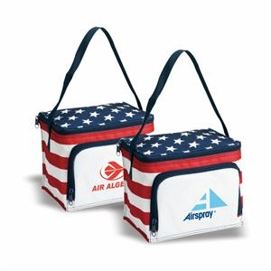 Stars & Stripes 6 CAN Cooler Bag, Cooler Tote, Insulated