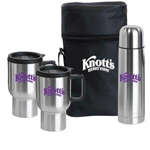Pacifica - Stainless Steel Travel Drinkware Set