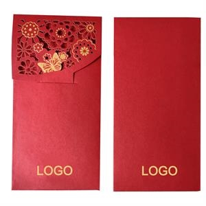 Gold Stamp Butterfly Red Envelope for Holiday Gifts