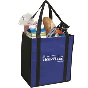 Non-woven two-tone grocery tote