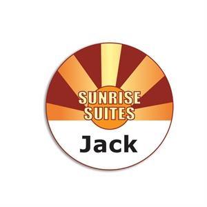 Circular Name Badge