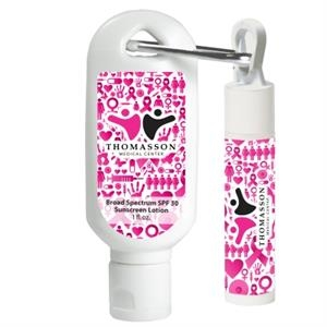 Kit: 1 oz. SPF30 Sunscreen Lotion with Carabiner and SPF1...