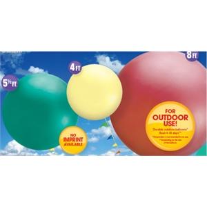 4 ft., 5.5 ft., & 8 ft. Cloudbuster™ Balloon - Blank