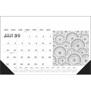 Adult Coloring Book 2020 Desk Calendar Pad - Brilliant ...
