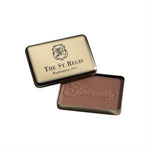 10 oz Custom Molded Chocolate Bar in Gold Metal Tin