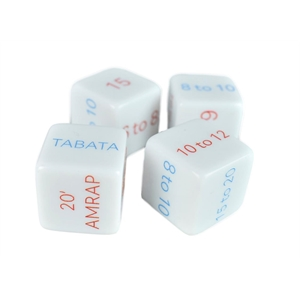 19mm White Dice with 6 Custom Sides
