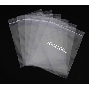 Clear resealable plastic ziplock bag