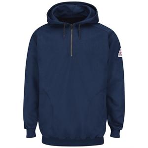 Bulwark Pullover Hooded Fleece Sweatshirt Quarter-Zip - L...