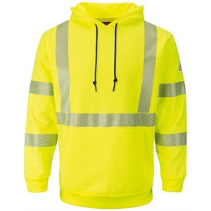 Bulwark Hi-Visibility Pullover Hooded Fleece Sweatshirt -...
