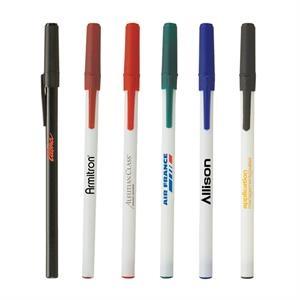 Classic Stick Pen w/White Barrel