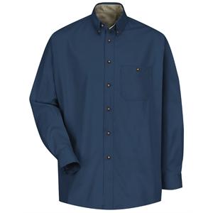 Red Kap Short Sleeve Cotton Contrast Dress Shirt